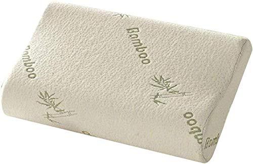 ZSW Memory Foam Almohada de Espuma de bambú Fibra Slow Rebound Memoria Almohada Cuello Almohada Cuello Cervical Cuidado de la Salud para El Regalo de Travel Travel