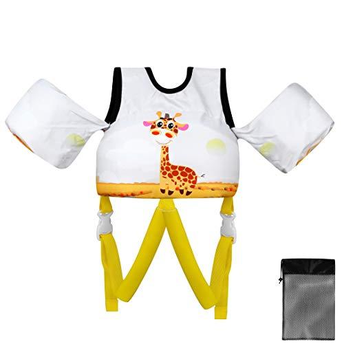 Gilet Natation des Enfants Veste de Bain pour Les Enfants de 10 kgs à 30 kgs (Girafe)
