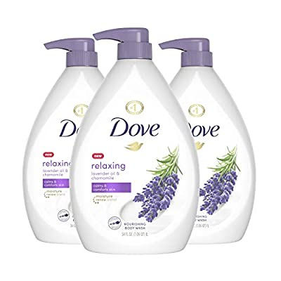 Dove Relaxing Body Wash Pump Calms & Comforts Skin Lavender Oil and Chamomile Effectively Washes Away Bacteria While Nourishing Your Skin 34 oz 3 Count