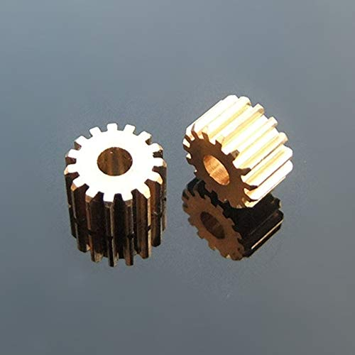 AGiao Components 153A latón Engranaje del Eje del Motor de Engranajes 15 Diente 0,5 M Juguetes Accesorios de Montaje de 3 mm del Eje del Agujero 8.5mm Engranajes de piñón Gear
