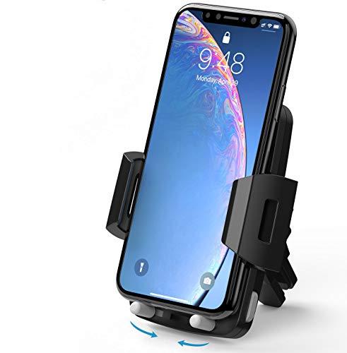 Avolare Handyhalter fürs Auto Handyhalterung Auto Lüftung Universale Autohalterung 360 Grad Drehbar für iPhone 11 Pro, Xs Max, XR, X, 8, 7, 6, Samsung S10 S9 S8 S7 S6, Huawei - 2 Stufen Klammer
