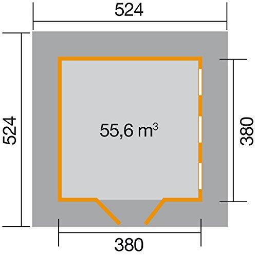 Großes Gartenhaus Holz mit Schlafboden Grundriss