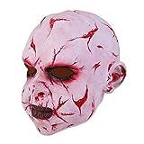 Faletony Máscara de payaso terrorífica de látex, máscara de payaso para Halloween, máscara facial para carnaval, fiesta de noche