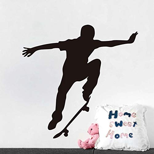 WERWN Moda monopatín Pared Vinilo monopatín Deportes Extremos Pared Pegatina Arte Mural Papel Tapiz Autoadhesivo