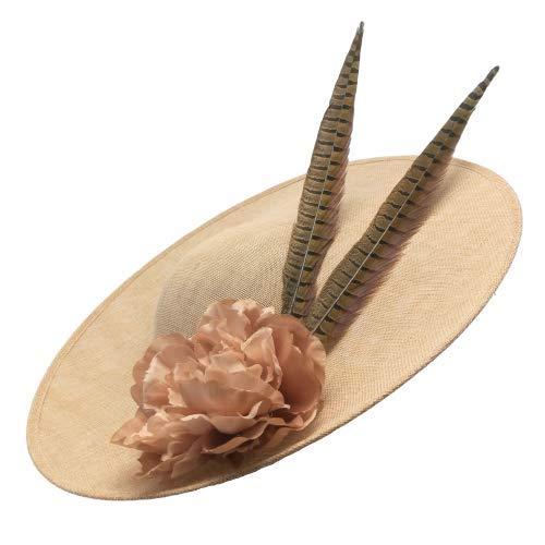 Tocado Pamela en Rosa Nude de 50 cm. con Adorno de Flor...