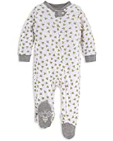 Burt's Bees Baby - Unisex Sleep & Play, Organic Pajamas, NB - 9M One-Piece Zip Up Footed PJ Jumpsuit