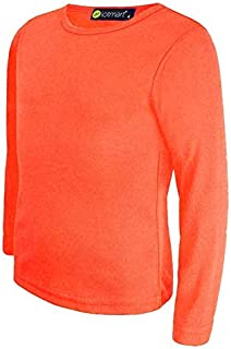 3d85d67f82bae ... T-shirts à manches longues fille · LotMart pour Enfants Uni Basique Haut  Col Rond Slim Manches Longues