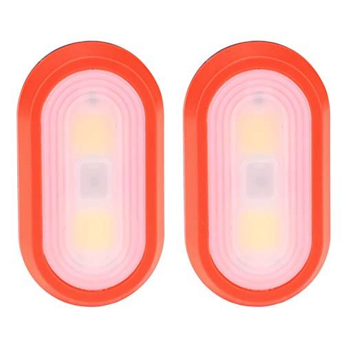 FAVOMOTO 2 Stück Clip Licht Wasserdicht Mini LED-Taschenlampe Camping Licht Reflektierende Laufausrüstung für Camping Wandern Laufen Joggen Outdoor-Abenteuer Rot