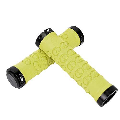 DAUERHAFT Cómodos puños de Bloqueo duraderos Antideslizante Accesorio de Ciclismo Resistente para Bicicleta de Carretera(Light Green)