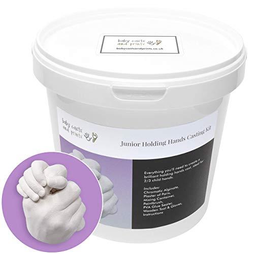 Baby Casts & Prints Kit de moulage 3D Junior Tenant la main - poudre à mouler, plâtre, seau à mélanger, outils - plaisir à utiliser