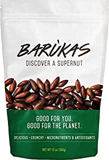 Barùkas: The Healthiest Nuts in the World - Roasted in a 12 ounce (340 gram) Resealable Bag for Freshness. Delicious / Wild Grown / Sustainable / High Fiber.