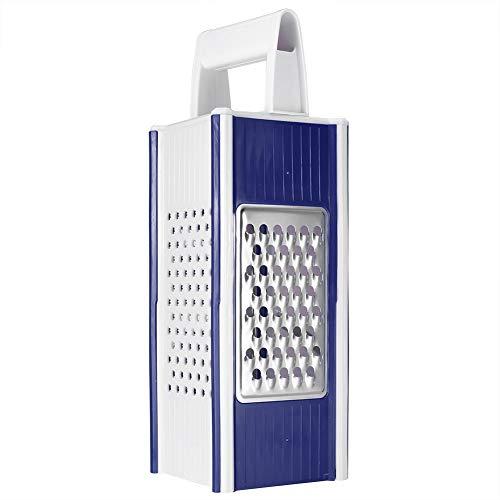 Caja de rallador de herramientas para rebanar picadora de 4 lados con caja de almacenamiento para tomate para molinillo de frutas(blue)