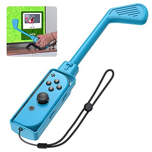 Auarte Golfschläger für Mario Golf: Super Rush – Nintendo Switch Joy-Con Controller, 2021 Neueste Switch Golf Game Handgrip Gaming Zubehör für Nintendo Switch Joy-Con mit Handschlaufen, 1 Pack