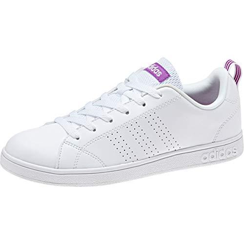 adidas Vs Advantage Cl W, Scarpe da Fitness Donna, Bianco (Ftwr White/Ftwr White/Shock Purple F16), 43 1/3 EU