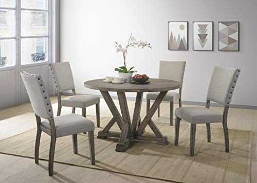 Best Master Furniture 5 Piece Dining Table Set Gray