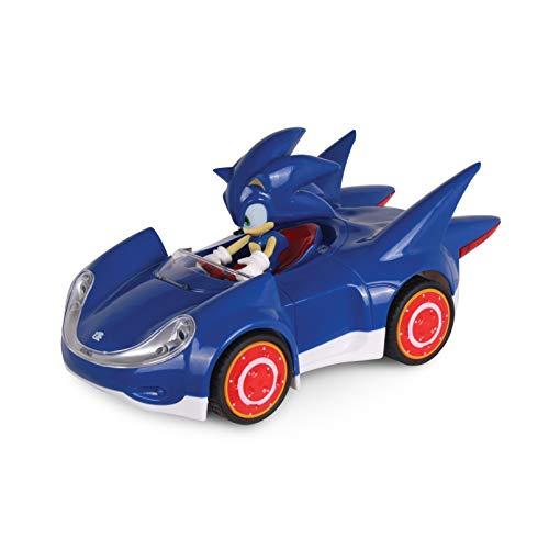 NKOK Offizielle Sonic The Hedgehog Movie Toys | SEGA Racing Pull Back Speed Racer | Großes Spielzeugauto - Blau