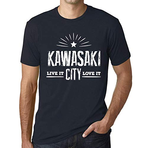 Hombre Camiseta Vintage T-Shirt Live It Love It Kawasaki Marine