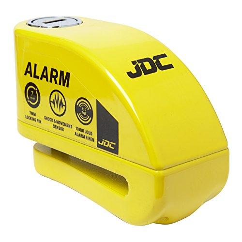 JDC Motorrad Bremsscheibenschloss Alarm - Jaws - Gelb