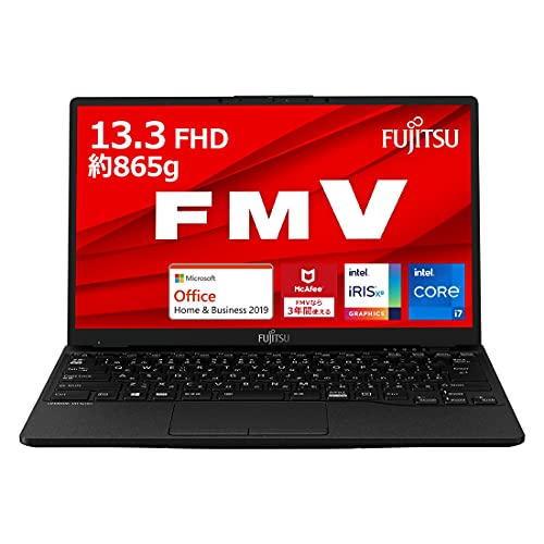 【公式】 富士通 ノートパソコン FMV LIFEBOOK UHシリーズ WU2/E3 (Windows 10 Home/13.3型ワイド液晶/Core i7/8GBメモリ/約512GB SSD/Office Home and Business 2019/ピクトブラック/長時間駆動バッテリ)AZ_WU2E3_Z651/富士通WEB MART専用モデル