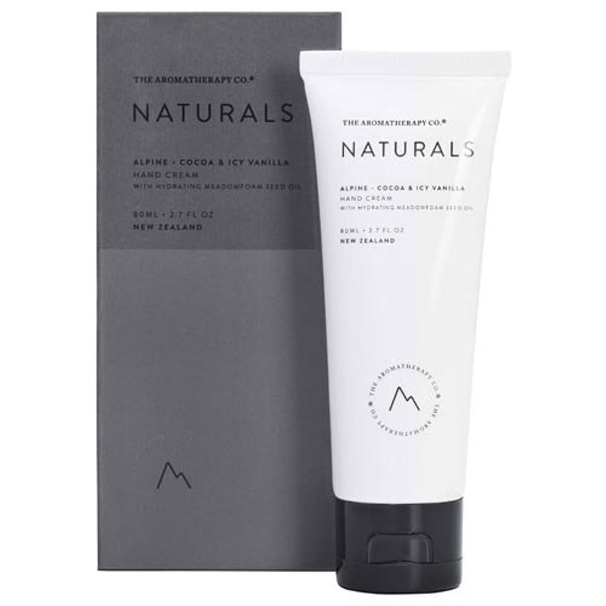 しかしながら湖多用途new NATURALS ナチュラルズ Hand Cream ハンドクリーム Alpine アルパイン(山)Cocoa & Icy Vanilla ココア&アイシーバニラ