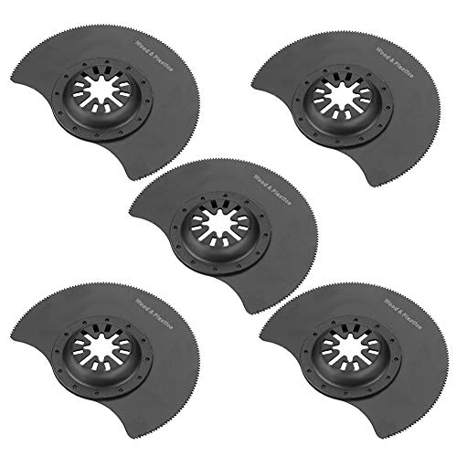 Set di 5 lame per sega circolare oscillanti in acciaio ad alto tenore di carbonio da 3,5 pollici multifunzione per riparare utensili oscillanti