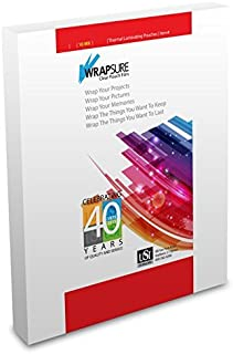 USI WrapSure Thermal (Hot) Laminating Pouches/Sheets, Letter Size, 10 Mil, 9 x 11 1/2 Inches, Clear Gloss, 50-Pack