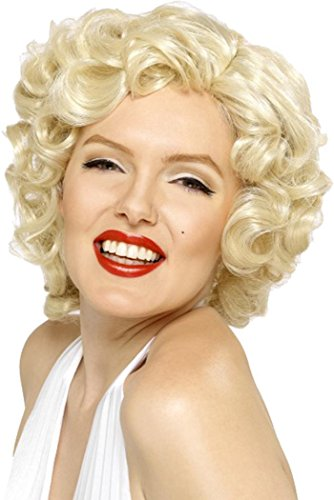 Dames Fancy Jurk Party Korte Cut Blonde Marilyn Monroe Pruiken Film & Tv Hoofddeksels