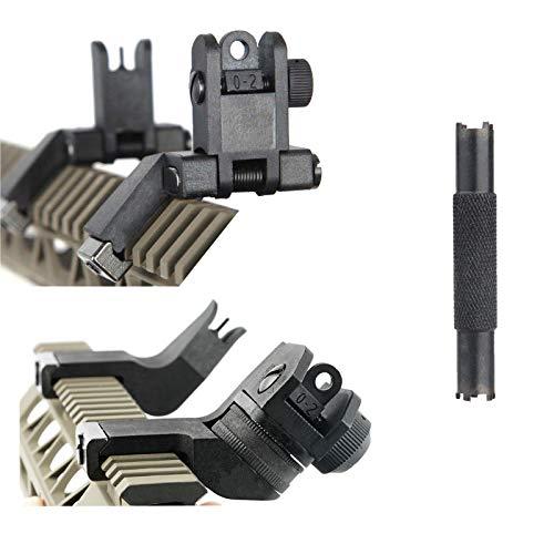 Fidragon Sights Adjustment Tools 45 Degree flip up Sights 45 Degree Front and Rear Sights Rifle Shooting Sight 3 PCS Combo Pack