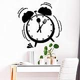 yaoxingfu Reloj Despertador de Dibujos Animados Pegatinas de Pared de guardería Calcomanías de Vinilo para Habitaciones de niños Decoración del hogar Arte de Pared D WW-1 XL 57cm X 59cm