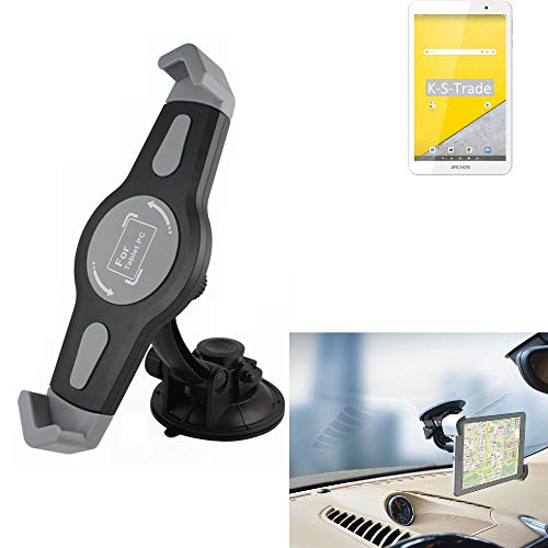 K-S-Trade Windscreen Holder for Archos T80 Wi-Fi Car Tablet Suction Cup Car Windscreen Holder