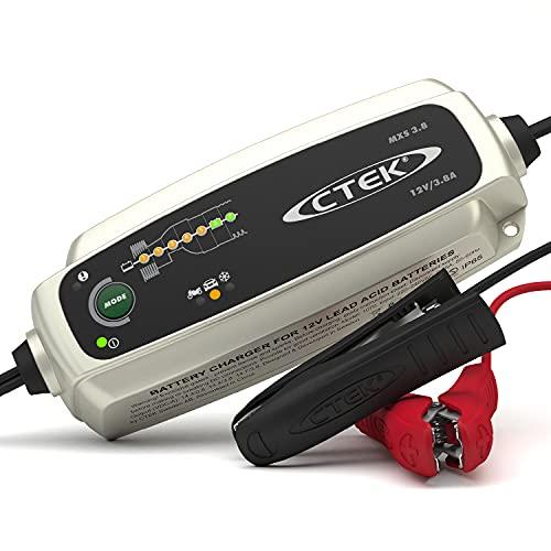 CTEK MXS Cargador Totalmente automático (Carga, Mantiene y reacondiciona Las baterías de Coche y Moto) 12V, 3.8 Amp