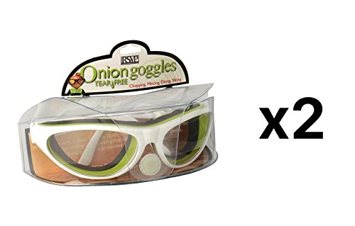 RSVP International Onion Goggles with Case, White (Pack of 2)