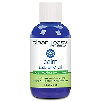 Clean + Easy Calm - Azulene Oil, Use To Soothe Sore Irritated Skin, Remove Wax Residue After Hair Removal - Post Waxing Care Solution For Sensitive Skin, 2 oz