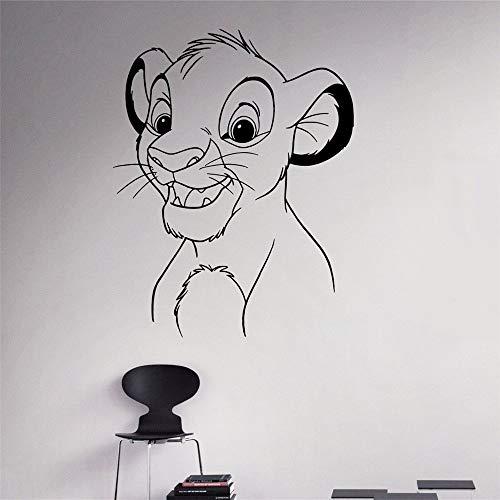 sticker mural Simba Sticker Roi Lion Stickers Bande Dessinée Art Le Roi Lion Simba Stickers Décoration de La Maison Enfants Chambre de la pépinière