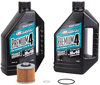 Oil Change Kit With Maxima Premium 10W-40 for Yamaha WR400F 1998-2000
