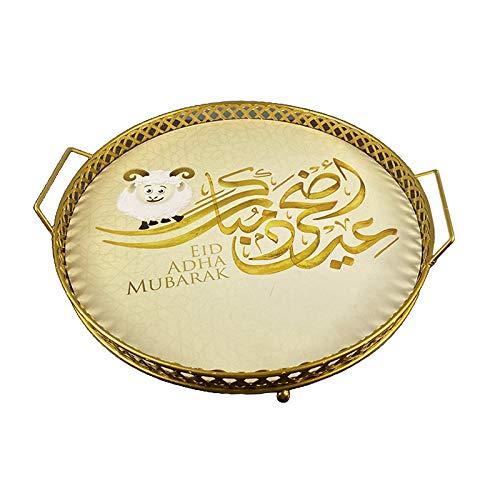 Nobranded Parfüm Tablett Eitelkeit Kommode Fach Verzierten Fach Dekorative Tray Home Küche Organizer Lebensmittel Tablett Platter für Islam Eid Hadsch keks - Y-1A