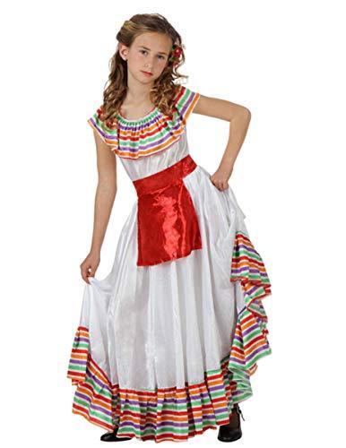 ATOSA disfraz mejicana niña infantil blanco 10 a 12 años