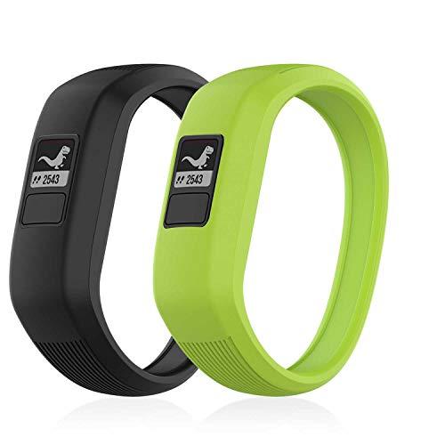 GVFM Armband kompatibel mit Garmin Vivofit JR/Vivofit JR2/Vivofit 3 Band, weiches Silikon, Sport-Ersatz, geeignet für Kinder Jungen und Mädchen (2-Schwarz, Limette, S: for 5.7 inch)