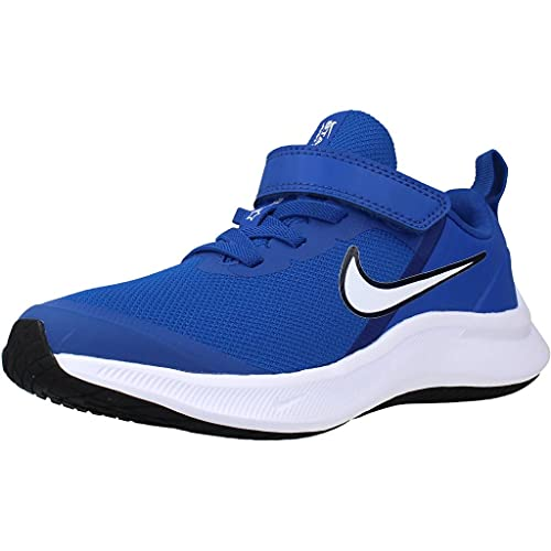 Nike Star Runner 3, Zapatos de Tenis Unisex niños, Juego Royal White Midnight Navy, 32 EU