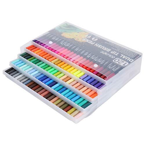Plumas de Pincel de Acuarela de 120 Colores, Juego de rotuladores de Acuarela para Colorear, Pintura de Acuarela