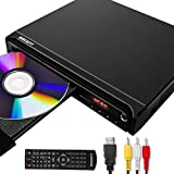 Reproductor de DVD para TV, DVD / CD / MP3 / MP4 con Conector USB, Salida HDMI y AV (Cable HDMI y AV Incluido)