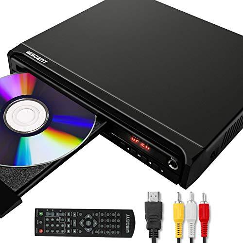 Reproductor de DVD para TV, DVD / CD / MP3 / MP4 con Conector USB, Salida HDMI y AV (Cable HDMI y AV Incluido)