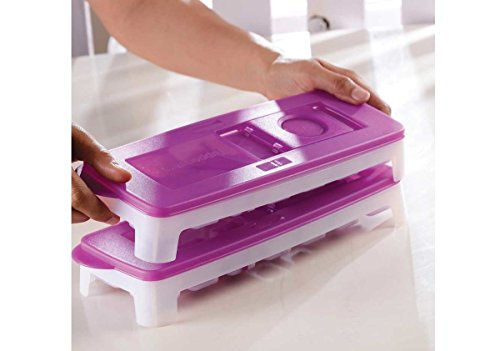 TUPPERWARE Fresh & Pure Eiswürfelform Lila 2er Set