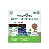 Wellements Baby Feel Better Kit - Includes Organic Baby Day & Nighttime Cough Syrups, & Baby Chest & Foot Rub