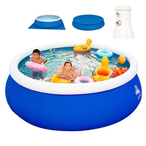 Zwemcentrum Groot Snel Zwembad met Filterpomp - Opblaasbaar Zwembad Familiezwembad Tuinvoet Rond Zwembad - 8 Maten