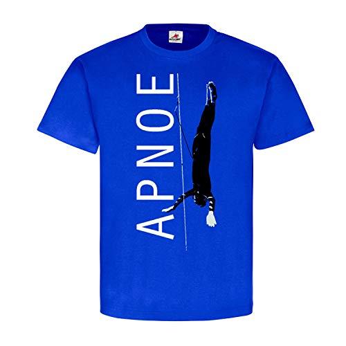 Apnoe Diver Tauchern Tauch-Sport Freitauchen Apnoetauchen Kampfschwimmer Tiefenrausch Schwimmer T-Shirt #23108, Größe:XXL, Farbe:Royal