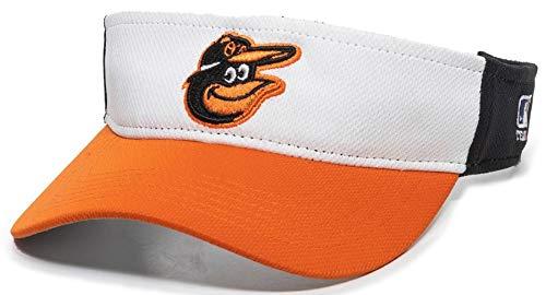 OC Sports Baltimore Orioles MLB - Gorro de golf con visera para hombre, ajustable, color blanco y negro