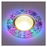 YSJJJBR Foco Empotrable LED 1 unids/Lote 3w LED Downlights empotrados Lámparas de luz de Techo incrustadas DIRIGIÓ Downlights Decoración del hogar Luz (Emitting Color : Warm White, Wattage : 3w)