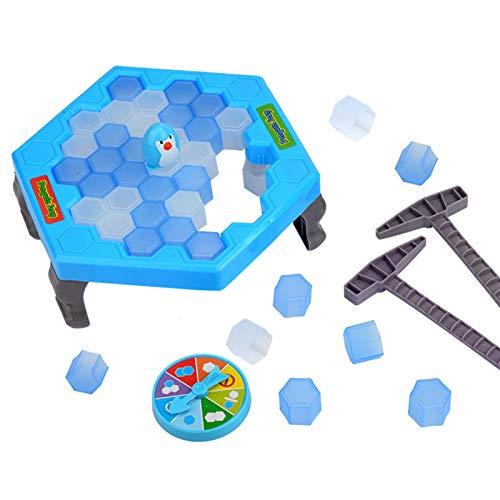 Speichern Sie Pinguin EIS Puzzle Spiel, Breaking Ice-Block Puzzle Spiel Spielzeug Beat Pinguin Break Eisblock Hammer Falle Strategie Brettspiele für Kinder Eltern-Kind Interaktives Lernspielzeug