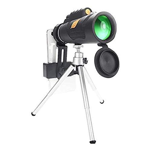 HD Monocular Telescopio Portatil Alta potencia hd monocular para observación de aves con soporte trípode trípode clip de primavera noche de visión de la noche camping senderismo Uso fácil al exterior